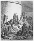 La gente que está de luto sobre las ruinas de Jerusalén Imagen de archivo libre de regalías