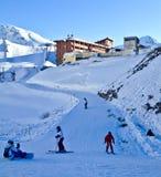 Actividad del esquí Imágenes de archivo libres de regalías