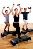 La gente raggruppa fare le esercitazioni di forma fisica Fotografia Stock