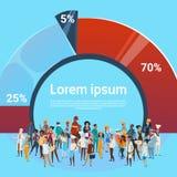 La gente raggruppa l'insieme differente di occupazione, fondo del grafico dei lavoratori della corsa della miscela degli impiegat Fotografia Stock Libera da Diritti