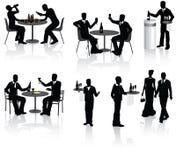 La gente in ristorante Fotografie Stock