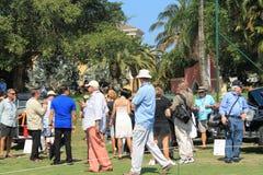 La gente riunita all'evento Fotografia Stock