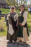 La gente, salesstands ed impressioni generali del festival medievale di età sul lago Murner in Wackersdorf, Baviera 10 maggio 201 Immagini Stock Libere da Diritti