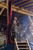 La gente, salesstands ed impressioni generali del festival medievale di età sul lago Murner in Wackersdorf, Baviera 10 maggio 201 Fotografie Stock Libere da Diritti