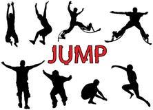 La gente salta Fotografie Stock