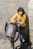 La gente in Sana'a, Yemen Immagini Stock Libere da Diritti