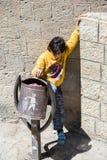 La gente in Sana'a, Yemen Fotografie Stock Libere da Diritti