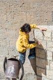 La gente in Sana'a, Yemen Immagini Stock