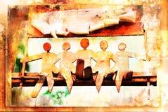 La gente simbólica se sienta Foto de archivo libre de regalías