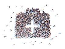 La gente sotto forma di corredi Fotografie Stock Libere da Diritti