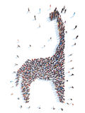 La gente sotto forma di dinosauro Immagine Stock Libera da Diritti