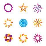 La gente sottrae le icone collegate di logo del cerchio di successo di spirale della comunità Fotografia Stock