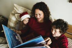La gente sta godendo della festa di Natale Immagini Stock Libere da Diritti