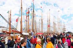 La gente a Stavanger la concorrenza alta delle corse Immagine Stock