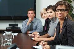 La gente su addestramento di affari Immagini Stock Libere da Diritti