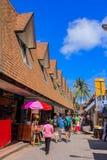 La gente su Phi Phi Island Fotografia Stock