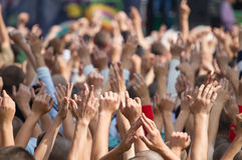 La gente su un concerto Fotografia Stock