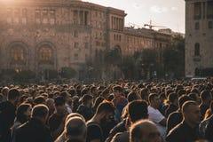 La gente su un raduno fotografia stock libera da diritti