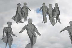 La gente sul cielo Fotografia Stock Libera da Diritti