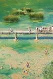 La gente sul lago Fotografia Stock