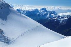 La gente sul nonte Elbrus Fotografie Stock Libere da Diritti