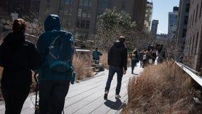 La gente sull'alta linea Fotografia Stock Libera da Diritti