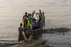 La gente sulla barca Fotografia Stock Libera da Diritti