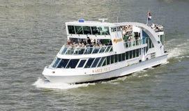 La gente sulla nave da crociera a Rotterdam Fotografia Stock
