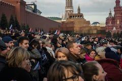 La gente sulla parata militare dedicata alla parata hisorical ha tenuto immagine stock