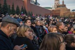 La gente sulla parata militare dedicata alla parata hisorical ha tenuto fotografia stock