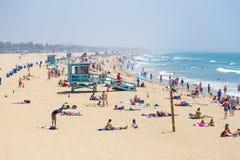 La gente sulla spiaggia Fotografia Stock Libera da Diritti