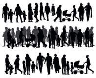 La gente sulla via Immagine Stock
