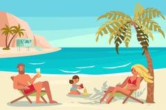 La gente sulle vacanze estive Immagini Stock Libere da Diritti