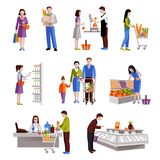 La gente in supermercato Fotografia Stock Libera da Diritti