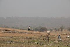 La gente in Toko vicino al lago Volta nella regione del Volta nel Ghana Fotografia Stock