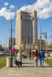 La gente in transito all'università della stazione della metropolitana con Intercontine fotografia stock libera da diritti