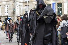 La gente travestita in costumi di Star Wars Fotografie Stock