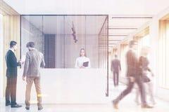 La gente in ufficio incita, pulito e luminoso, tonificato Immagine Stock Libera da Diritti