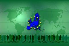 La gente in Unione Europea Immagine Stock