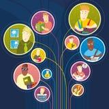 La gente utiliza la red social ilustración del vector