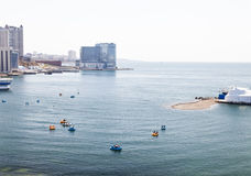 La gente va canotaje Foto de archivo libre de regalías