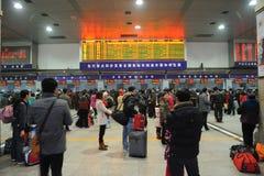La gente va a casa durante Año Nuevo chino Imagen de archivo