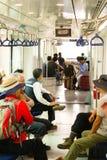 La gente va a casa in metropolitana dall'aeroporto Immagine Stock Libera da Diritti