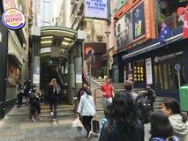 """La gente va en Mediados de-niveles escalera móvil, Hong Kong de Central†los """" Foto de archivo"""
