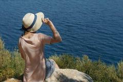 La gente in vacanza in paesi caldi Fotografie Stock Libere da Diritti