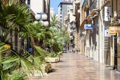 La gente Valencia City In Spain del centro di camminata Immagini Stock