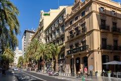 La gente Valencia City In Spain del centro di camminata Fotografia Stock Libera da Diritti