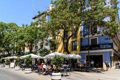 La gente Valencia City In Spain del centro di camminata Fotografia Stock