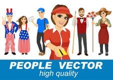 La gente vector con i vari caratteri Fotografia Stock