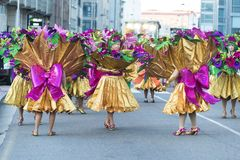 La gente vestita durante il carnevale Fotografia Stock